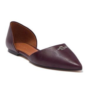 COACH Pointed Toe D'Orsay Flats